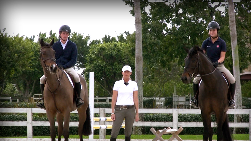 training your horse to do trot fences and downward transitions