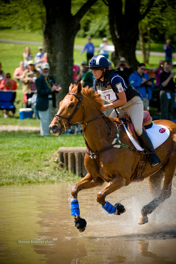 cross country rider Olivia Loiacono at Rolex Kentucky 3 day event