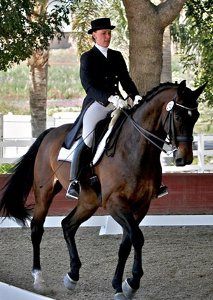 Dressage rider Verena Mahin