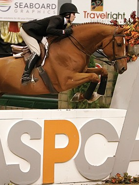 Zazou Hoffman riding in ASPCA Maclay Medal Finals