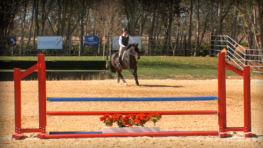 how to ride the perfect corner to set up a jump correctly on your horse