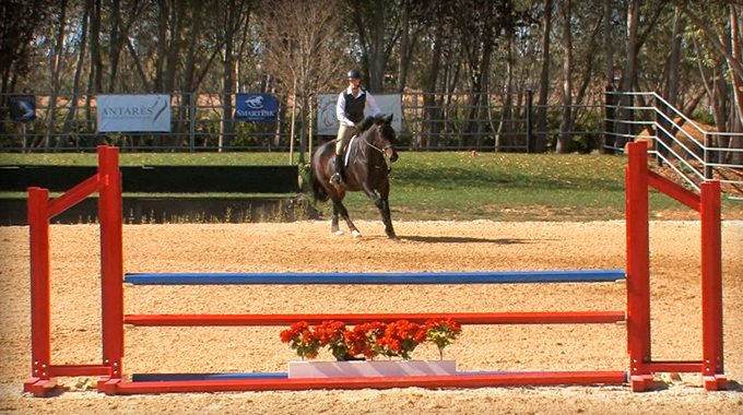 Keep Your Horse Straight Out Of The Corner To A Jump