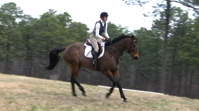 How To Keep A Horse Balanced When Galloping Downhill In A Cross Country Course