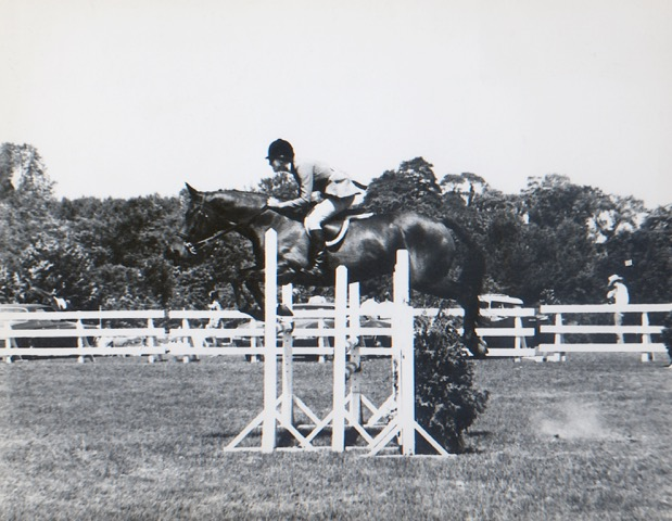 Anna & Rivet Riding Without Stirrups at Ox Ridge in 1971