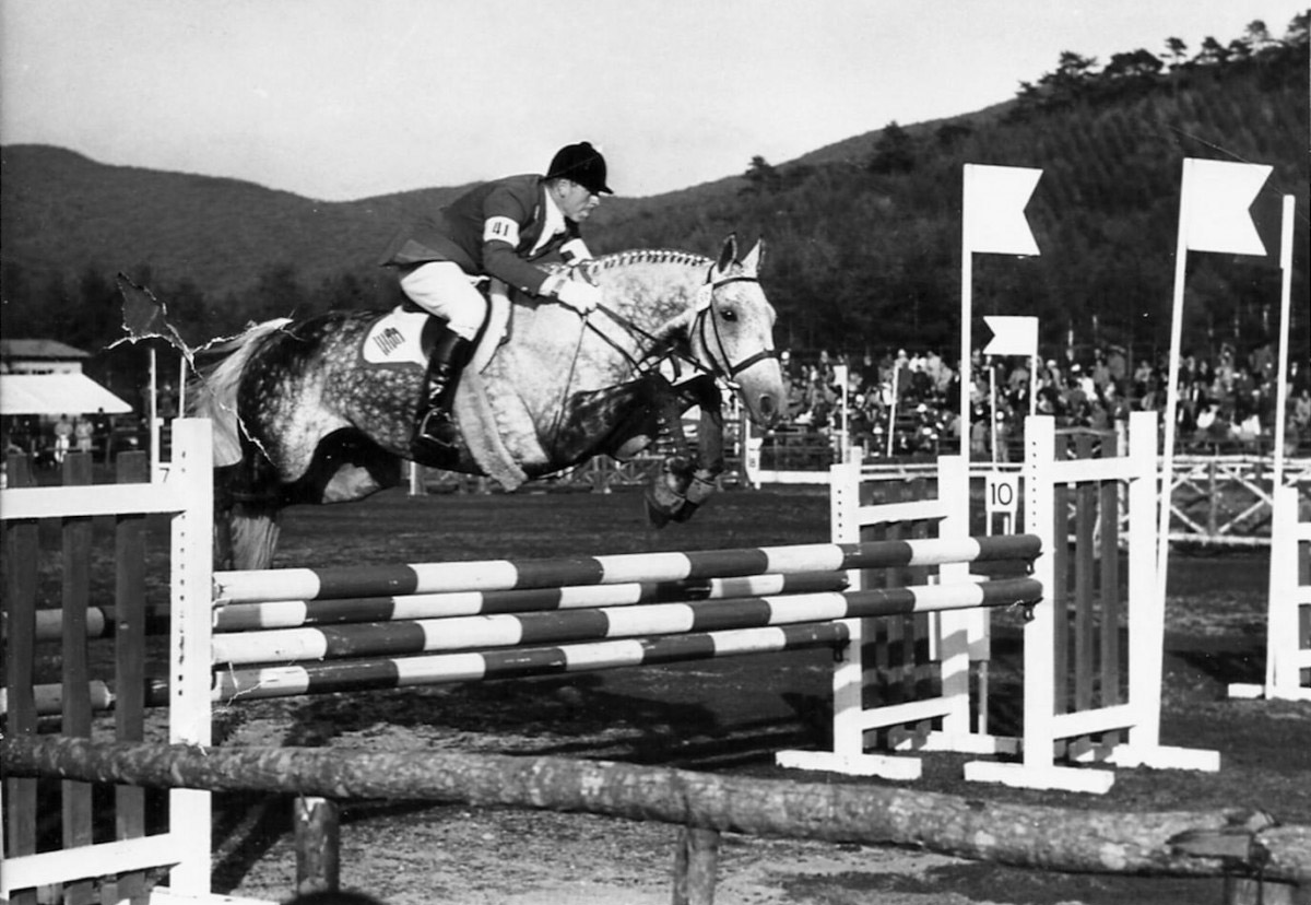 Mike Plumb and Bold Minstrel at the 1964 Olympics