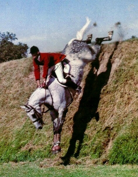 Bill Steinkraus and Bold Minstrel riding the Hickstead Derby Bank
