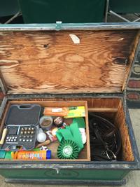tack box at horse show