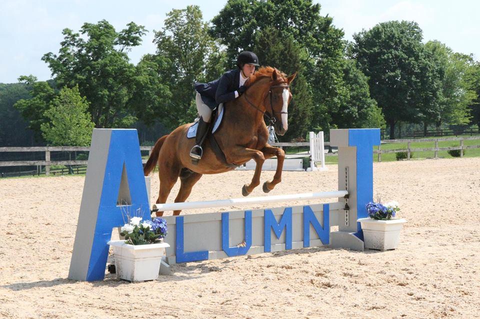 IHSA hunter rider jumping a jump
