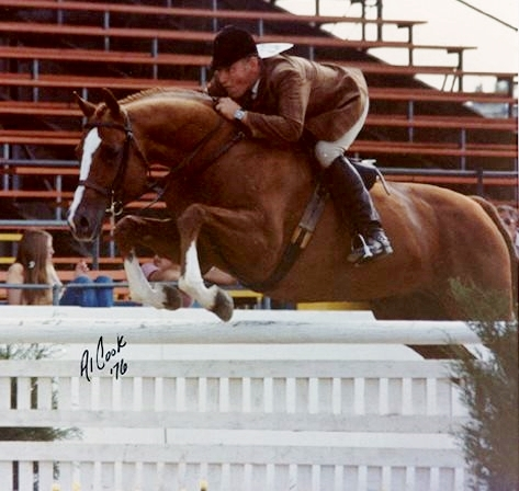 Sir Thomson, with Dave Kelley riding, at Virginia State Horse Show, in 1976