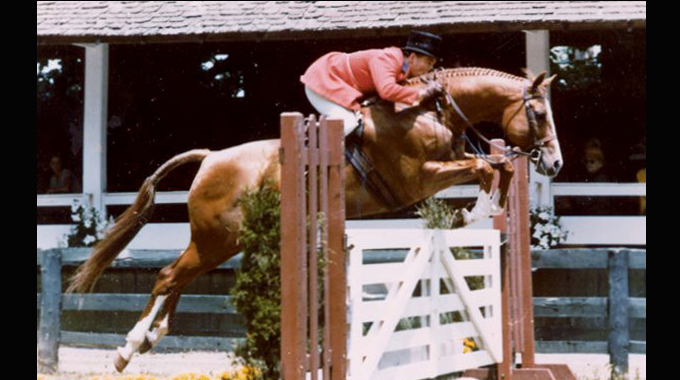 Sir Thomson With Dave Kelley Riding At Upperville In The Mid 70s