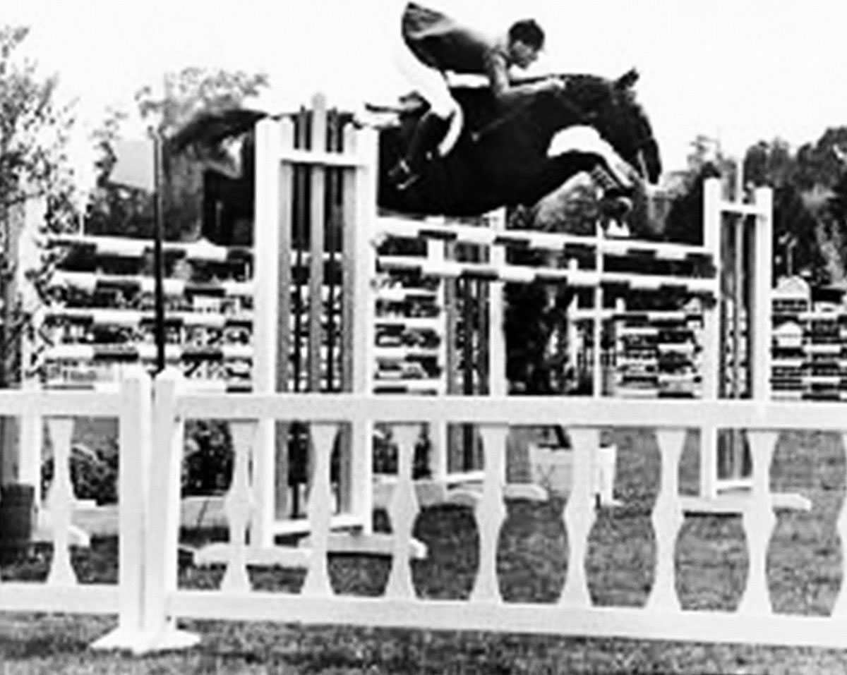 Snowbound with Bill Steinkraus at the 1968 Olympic Games in Mexico jumping an oxer