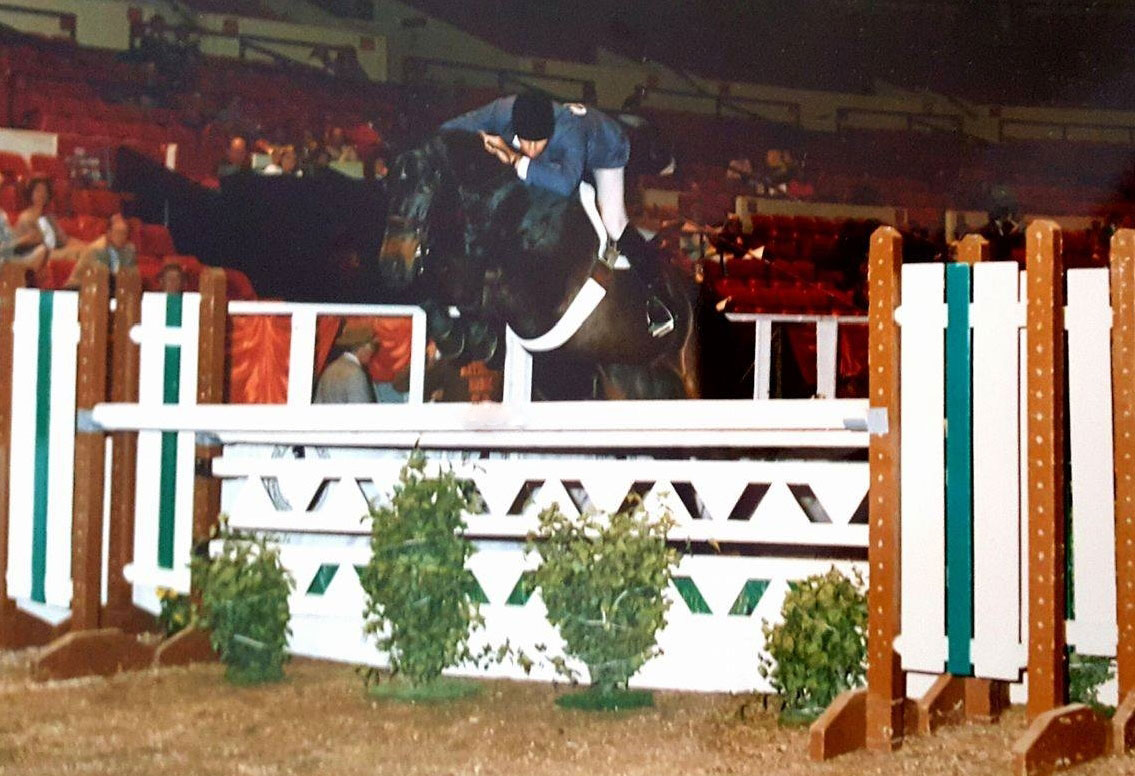 Mind Games with Tommy Serio riding at the National Horse Show in 1985.