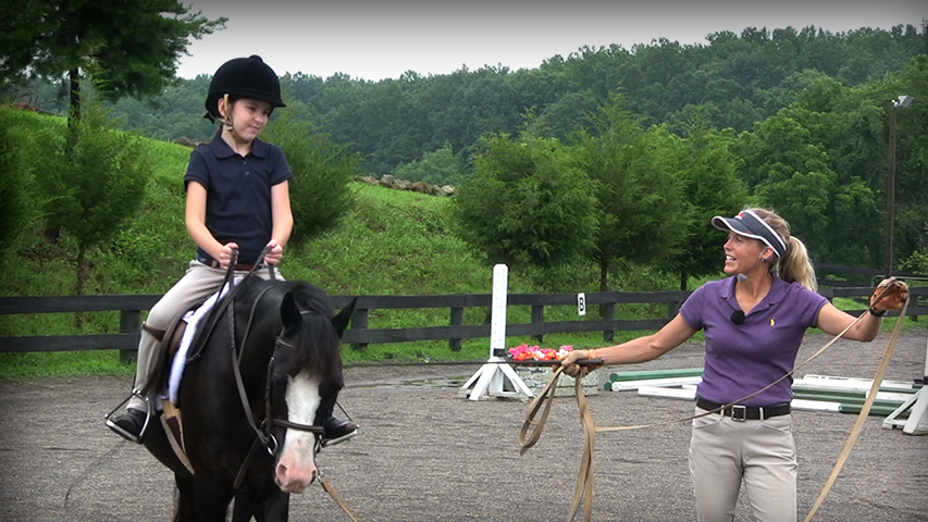 giving a rider their first lesson