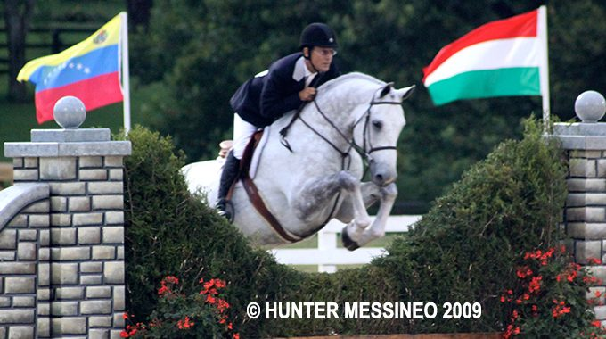 Hunter Derby Rider John French At Horse Show
