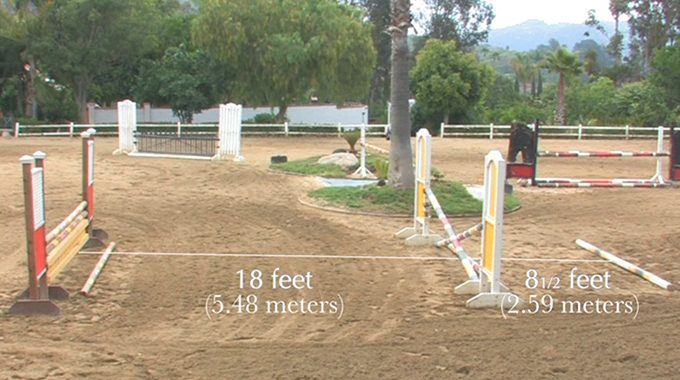 How To Set Gymnastic Lines And Canter Poles To Fit Your Horse's Stride