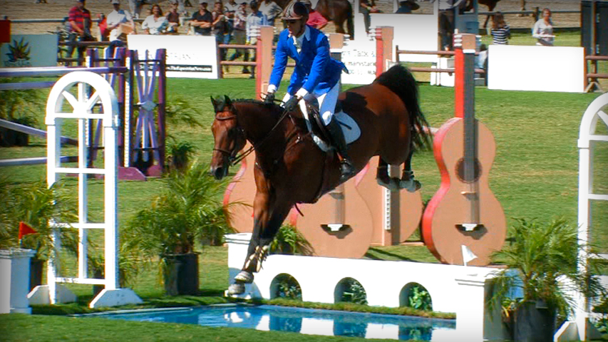 how to jump a water jump with your horse